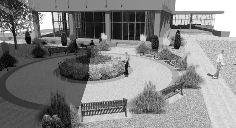 This is the plan for how the courtyard should look after its completion.