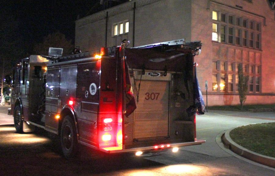 The Charleston Fire Department responds to a false alarm Thursday in Blair Hall. According to Charleston Fire Captain Blake Graven there was no fire.