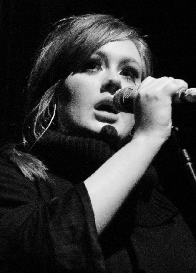 Adele performing live in 2009.