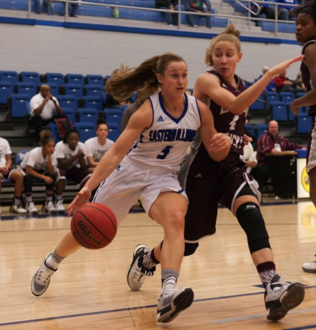 Sophomore guard Grace Lennox scored eight points during the Panthers' 75-56 loss to Eastern Kentucky on Thursday in Lantz Arena.