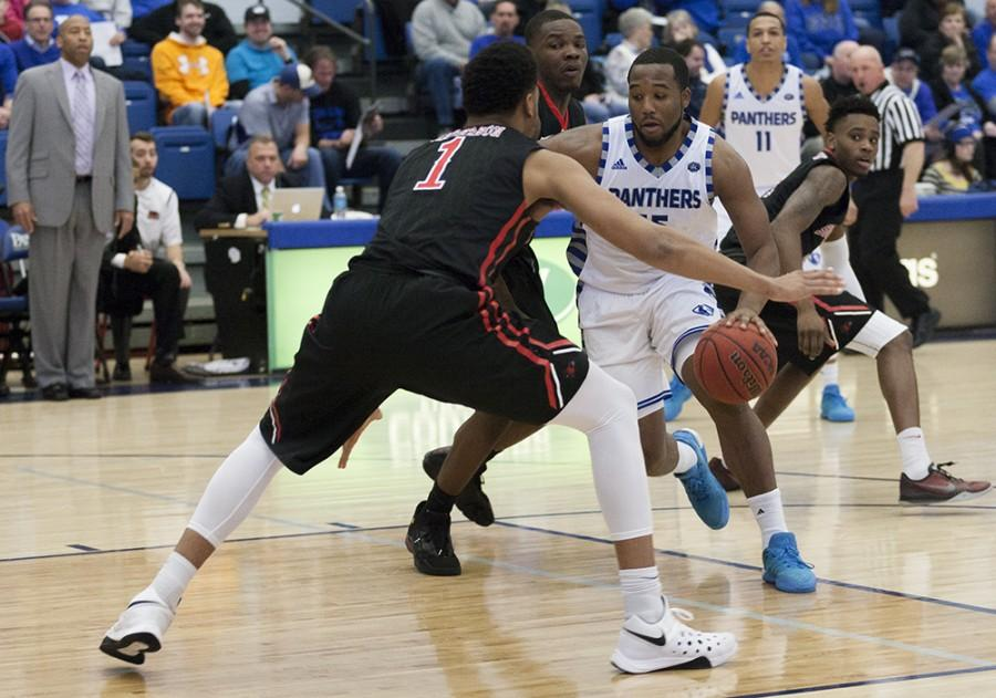Senior wing Trae Anderson had 27 points during the Panthers' 78-69 win over SEMO on Saturday in Lantz Arena. Anderson has 342 total points averaging 14.3 per game on the season.