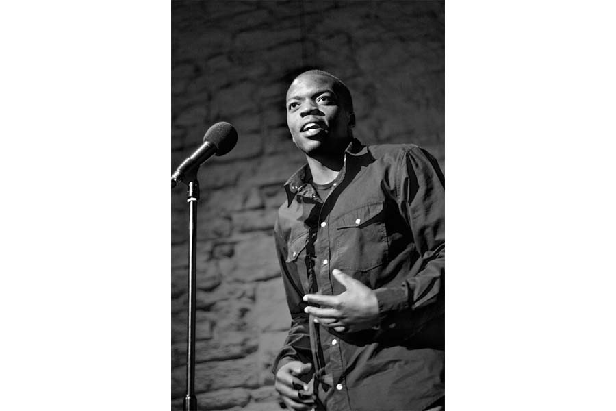 Co-founder+of+Cometry%2C+Iggy+Mwela%2C+is+performing+spoken+word.