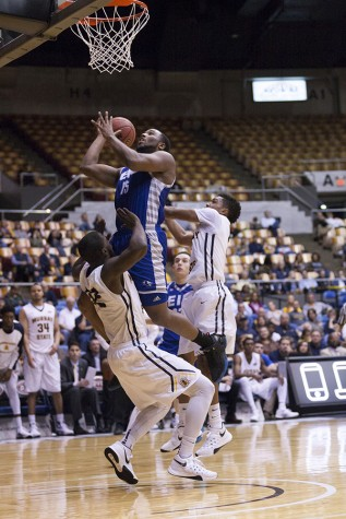 Senior Wing Trae Anderson scores six points in the Panther's 78-62 loss to Murray State Wednesday in Nashville, Tenn.