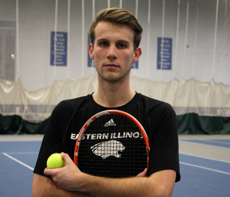 Senior tennis player Ryan Henderson has seen progress on the court since he has arrived at Eastern from New Zealand his freshman year.