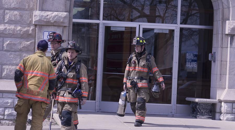 Charleston firefighters responded to a steam-activated fire alarm in the basement mechanical room on Tuesday.