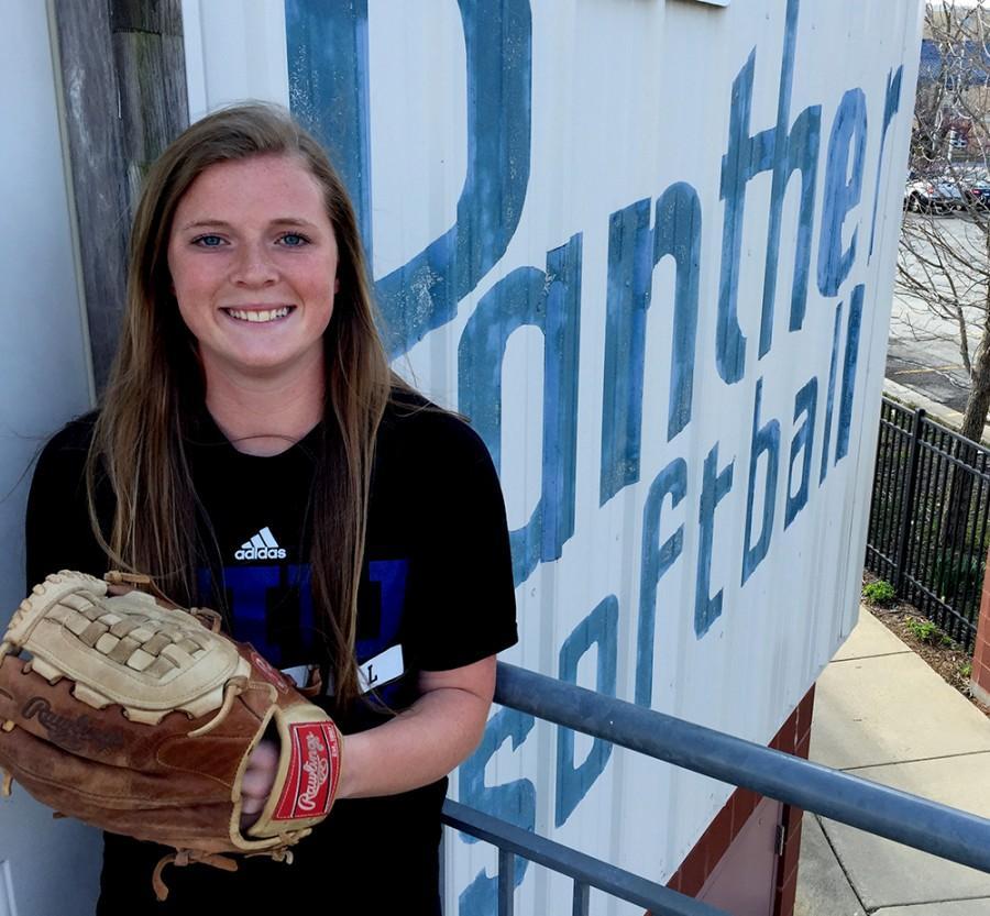 Freshman Mady Poulter has been the Eastern softball teams starting third baseman all season.
