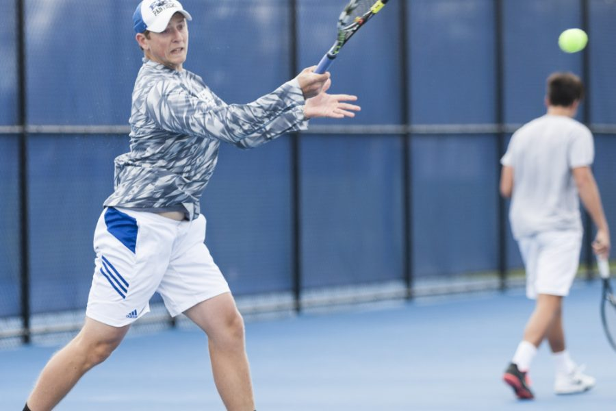 Senior Robert Skolik defeated Belmont's Robin Demasse 7-5, 6-2 in singles play on April 1 at the Darling Courts. The Panthers were defeated 4-3.