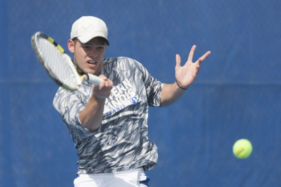 Sophomore Trent Reiman defeated Belmont's Adam Rudowski 6-2, 6-4 in singles play on April 1 at the Darling Courts. Reiman defeated Morehead State's Enrique Samudio 6-2. 6-4 in singles play on Saturday in Morehead, Ky.