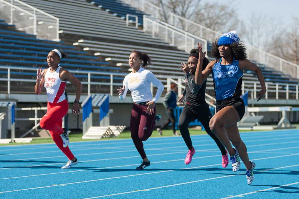 Junior Anita Saffa finished first in the women's 100 meter with a time of 11.67 on Saturday at O'Brien Field.