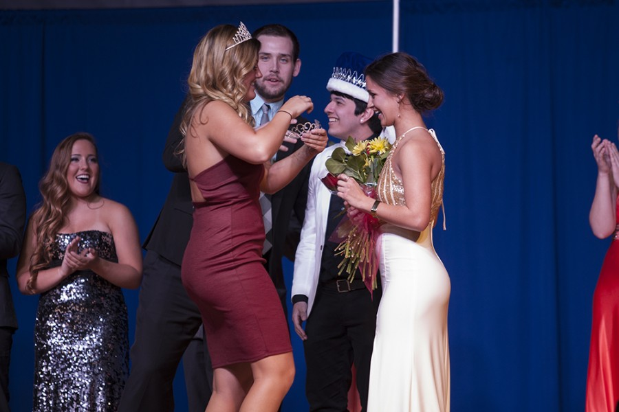 Talia Persico from Alpha Phi and Daniel Guerrero from Sigma Phi Epsilon were crowned King and Queen of the 2016 Greek Week Saturday during Airband in Lantz Arena.