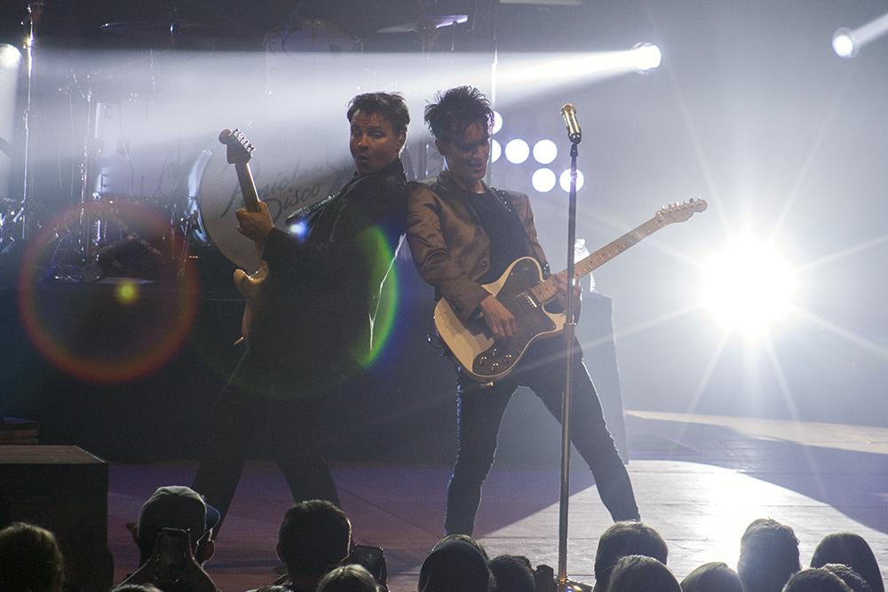 Panic! at the Disco perform during the Spring Concert Friday in Lantz Arena.