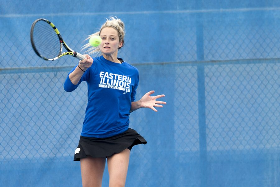 Senior Ali Foster defeated Belmont's Kendall Warren 6-4, 6-3 in singles play on April 1 at the Darling Courts. Foster defeated Morehead State's Zinia Mehkic  7-5. 6-2 in singles competition during the final game of the season on Saturday in Morehead, Ky.