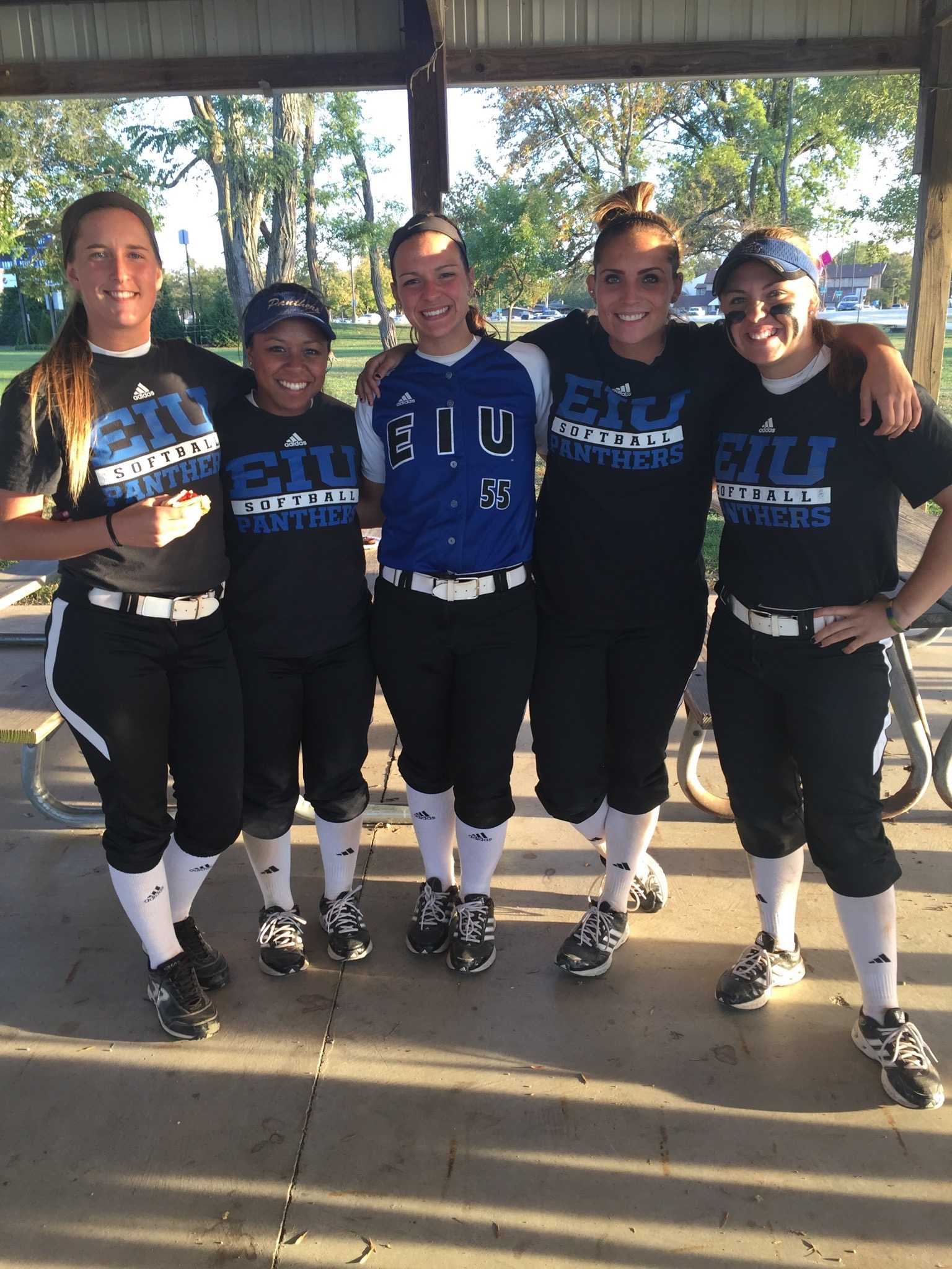 Submitted Photo:  Eastern's five seniors will celebrate senior day this weekend.