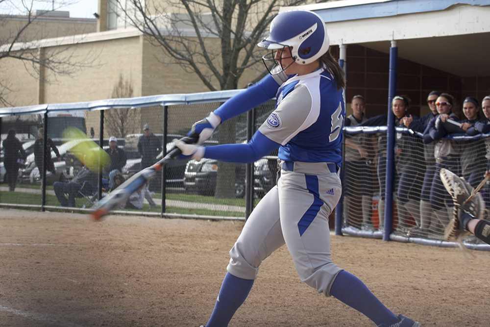Senior first baseman Kylie Bennett shined on senior day hitting two home runs in game one, breaking the single-season home run record.
