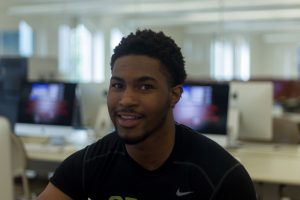 Cedric Johnson, a freshman communication studies major