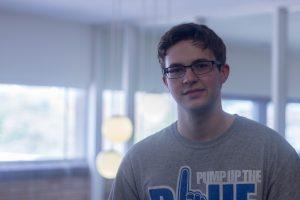 Eric Wiles, a senior pre-nursing major
