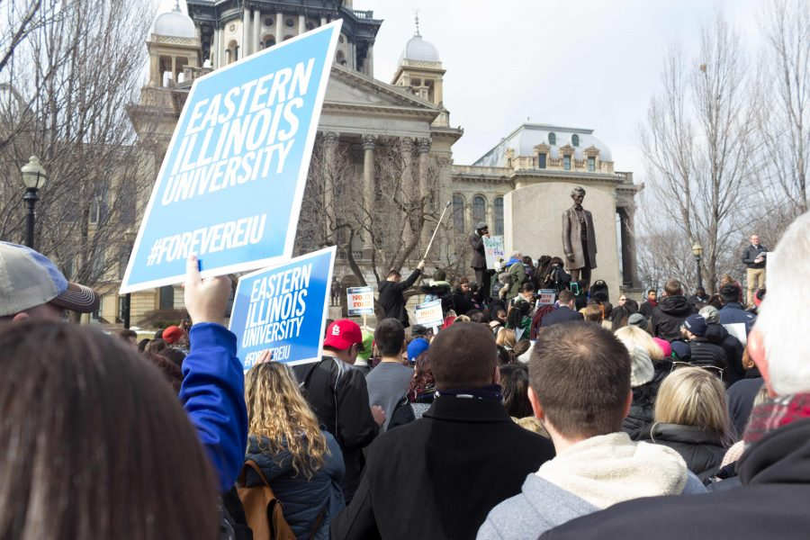Schools come together Feb. 17 at the Lincoln Memorial Statue in front of the Capitol Building.
