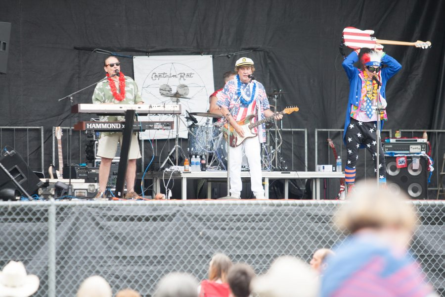 Captain Rat and the Blind Rivets perform on Monday at Morton Park.