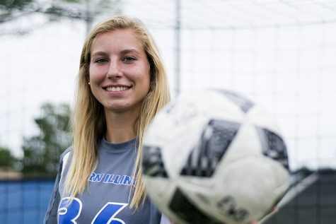 Freshman goalkeeper Sara Teteak has earned the starting job in the net for the Eastern women's soccer team.