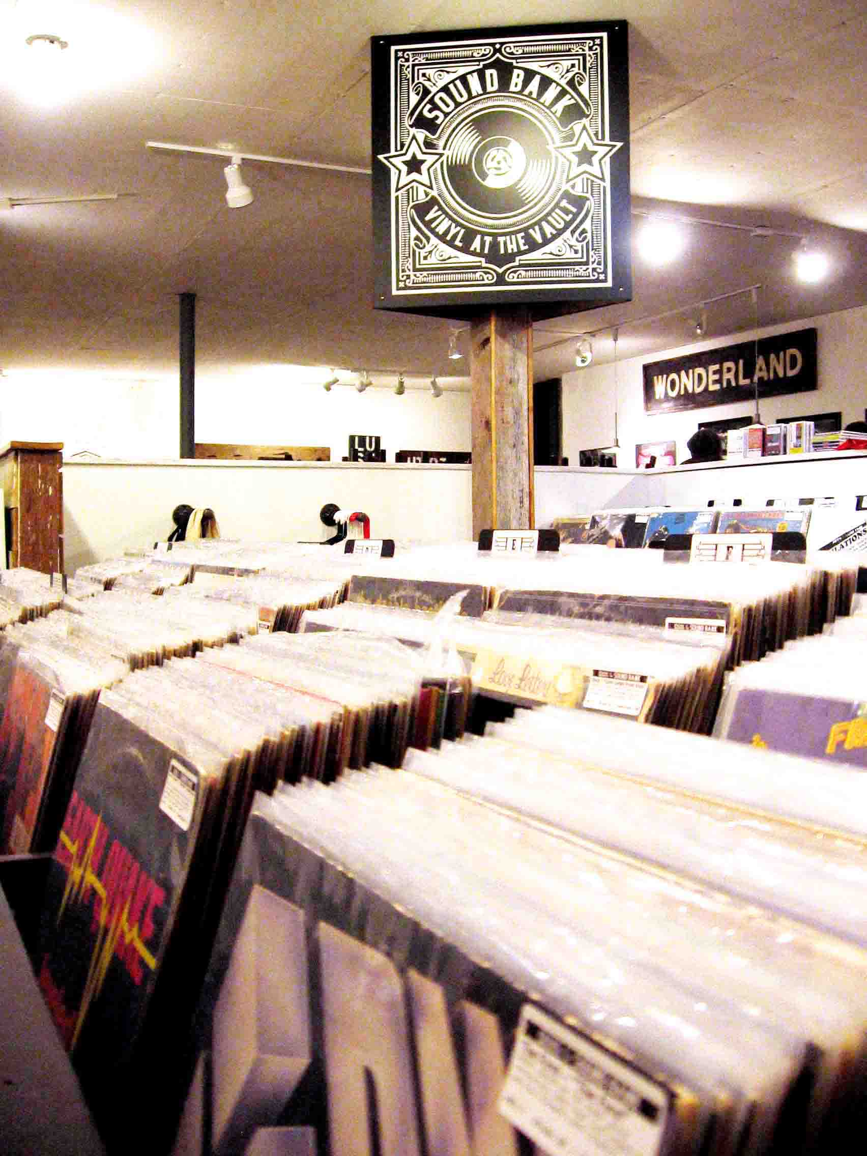 Subbmiited | The Daily Eastern News The Sound Bank is a vinyl-only store owned by the founders of Cavetone Records. It is located on the second floor of the Vault Art Collective building in Tuscola.