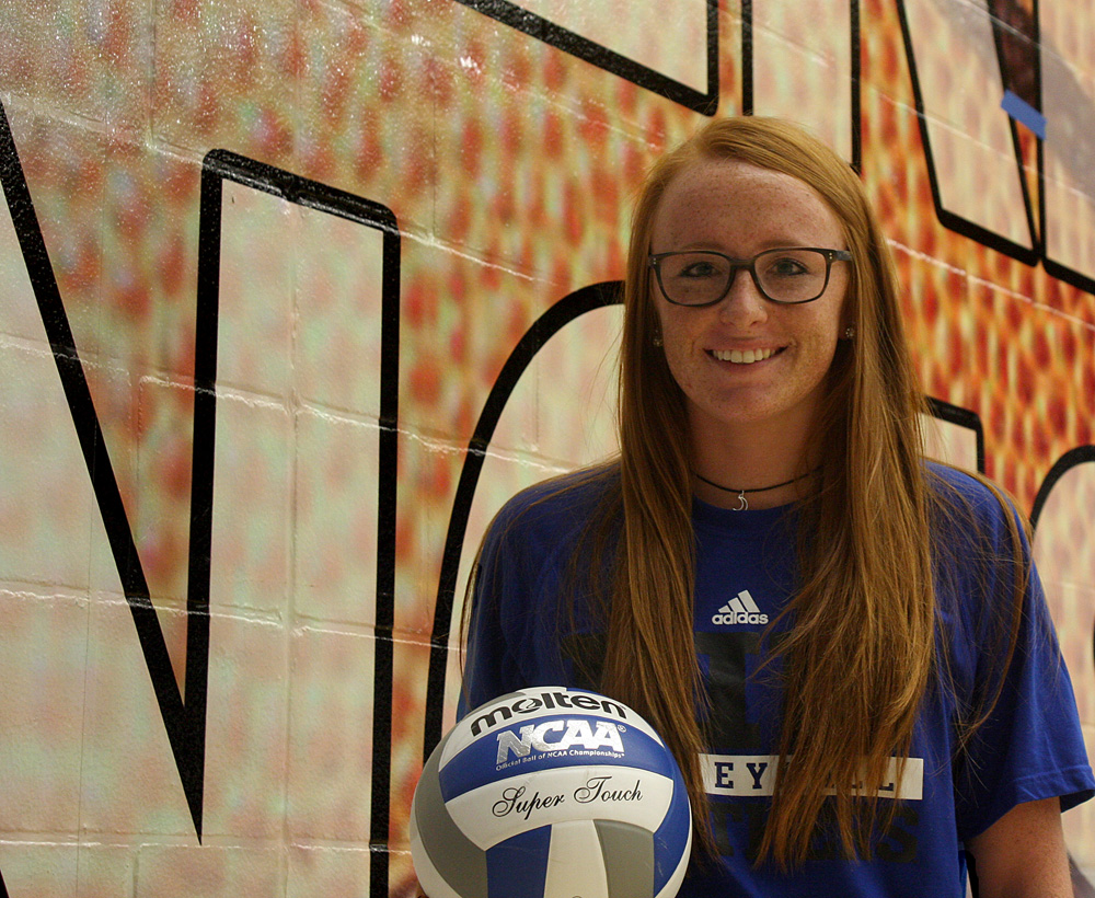Junior middle hitter Allie Hueston has 81 kills on the season despite playing in only 44 sets. Hueston was sidelined early in the season with a shoulder injury.