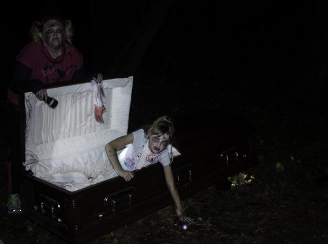 100 volunteers worked each night to scare patrons on the hike.