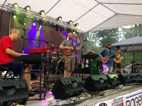 "The band ""Chromophonic"" performing a song at Rafe Fest in Waterloo IL. The band is making way to Charleston Friday."