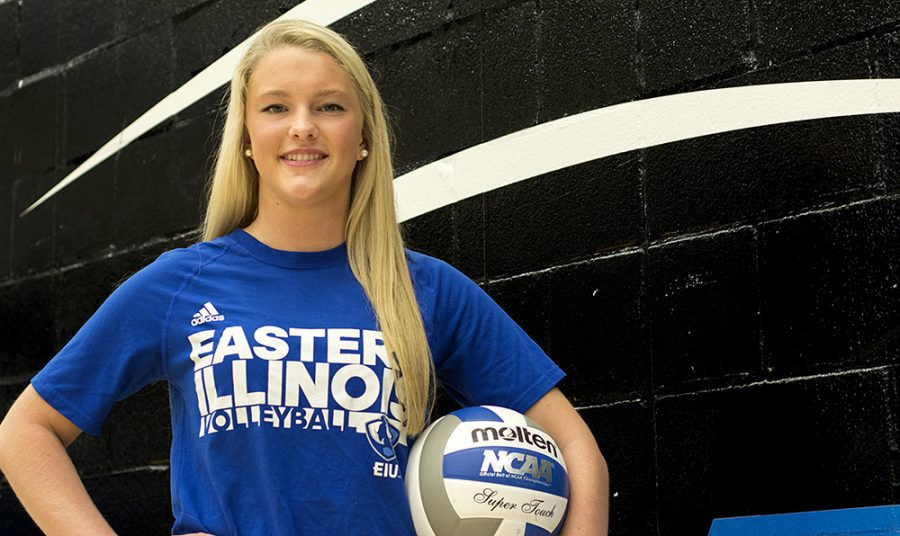 Freshman defensive specialist/libero Lindsey Powers leads the Panthers with 326 digs, averaging 3.33 per set. The first-year Panther has embraced her role as one of the younger leaders on the Eastern volleyball team.