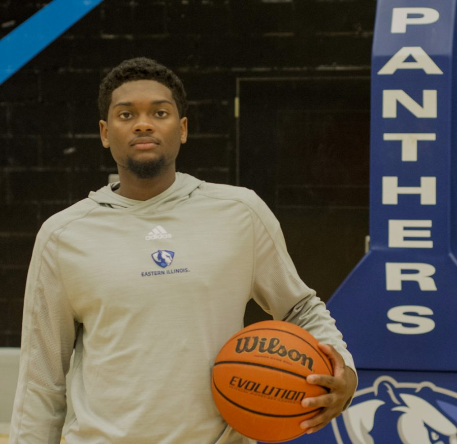 Junior Montell Goodwin, a transfer from Mineral Area College will look to be a large contributor for the Men's basketball team.