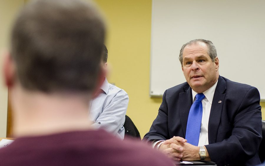 Eastern President David Glassman attended the weekly Faculty Senate meeting to discuss the vitalization recommendations that were posted online last week.