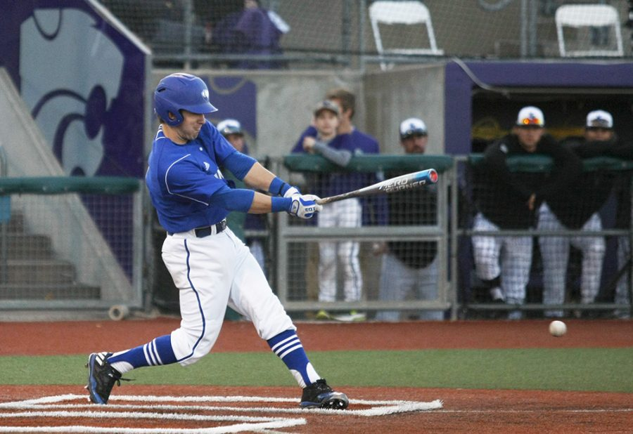 Sophomore+infielder+Jimmy+Govern+fouls+a+ball+off+during+Eastern%E2%80%99s+11-12+loss+to+Kansas+State+Saturday%2C+March+4+in+Manhattan%2C+Kan.