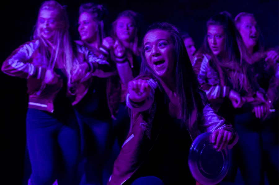 Alpha+Phi+sorority+performs+their+Airband+routine+for+Greek+Week.+They+ended+up+placing+first+in+the+sorority+division%2C+with+Pi+Kappa+Alpha+getting+first+for+fraternities.