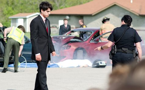 Mock accident shows consequences of drunken driving