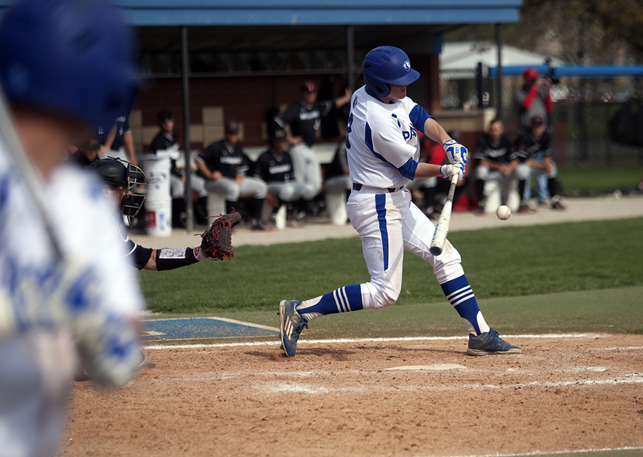 Redshirt sophomore Nicholas McCormick grounds out in the bottom of the 9th inning Sunday during the Panthers' 7-6 loss to Southeast Missouri.