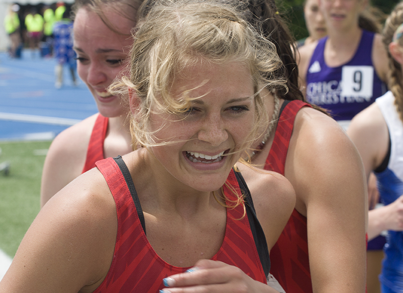 Senior+Chelsea+Paulek+celebrates+as+a+three-time%2C+class+1A%2C+4x800+meter+relay+state+champion+from+Deer+Creek+%E2%80%93+Mackinsaw+High+School.
