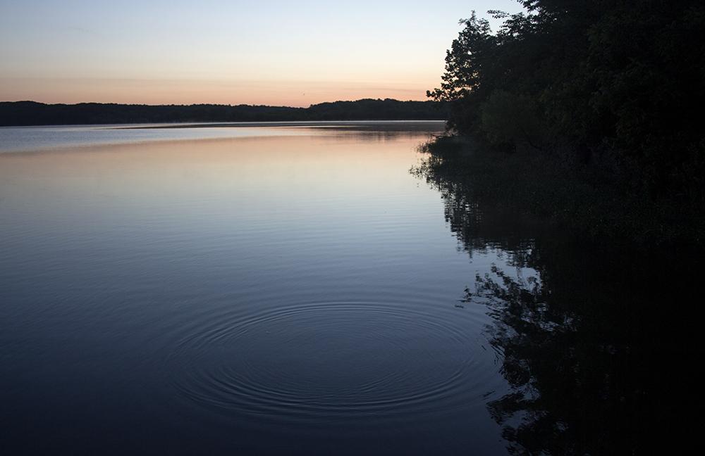 The sun rises on Lake Charleston Tuesday morning.