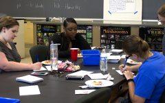 Gallery: Bio students help withrecruitment