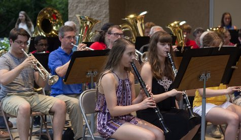 Members of the Charleston Community Band perform last Thursday during their weekly concert at Kiwanis Park.
