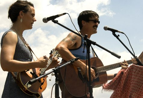 """Erin Goldstein and Jeff Corman of """"The Greyhounds"""" perform at Musefest in the Square Saturday."""