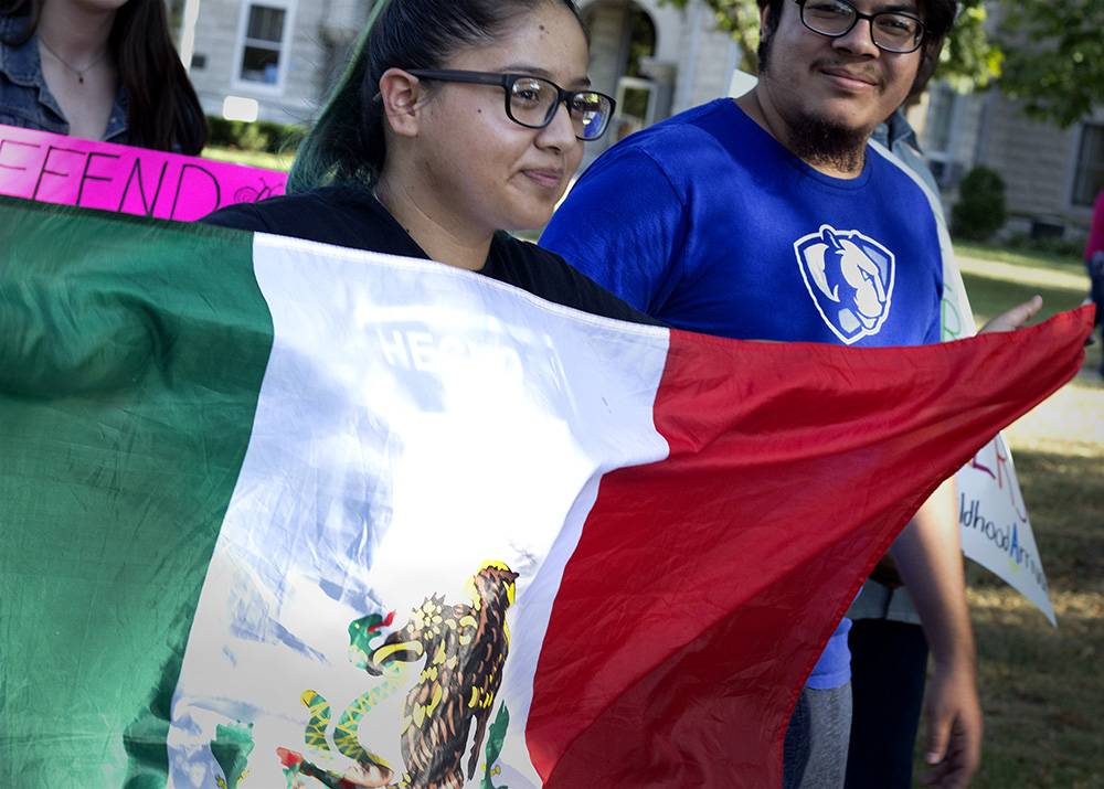 Yesenia Muruato, a junior double majoring in criminology and sociology and minoring in Spanish, is a DACA recipient who marched in the DACA Rally on Friday Afternoon.