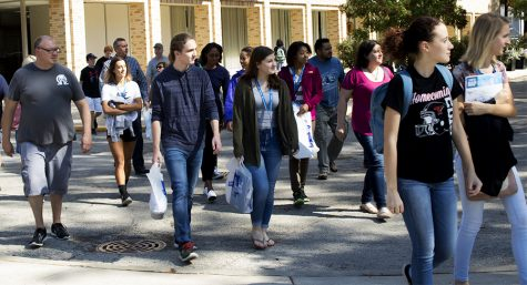 Prospective students explore campus for open house
