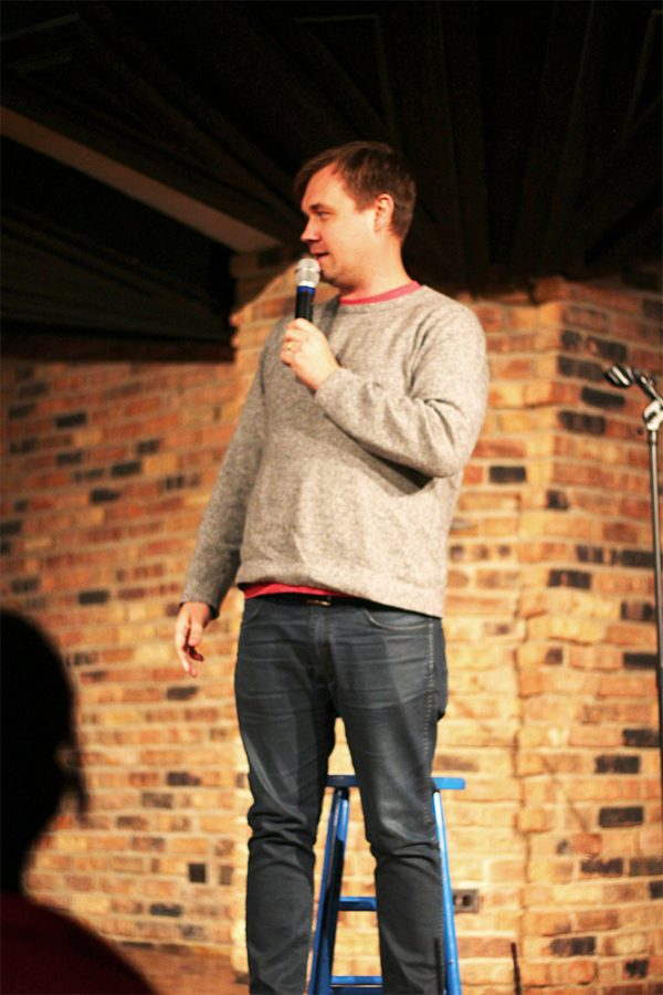 Comedian Andrew Sleighter performs Friday night in the 7th Street Underground in the Martin Luther King Jr. University Union.