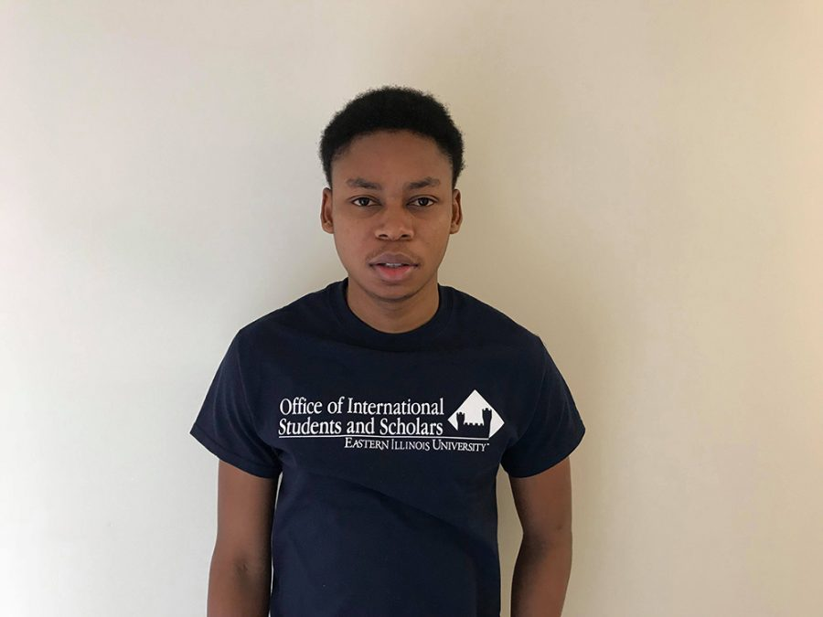 Kehinde Adebayo, a graduate student in economics, came to Eastern from Nigeria five months ago. Adebayo is an international student ambassador. He said he wanted to be one to help others like he was helped when he first came to the United States.