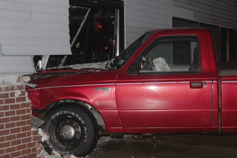 Truck crashes into Marty's, similar to previous crash in same spot