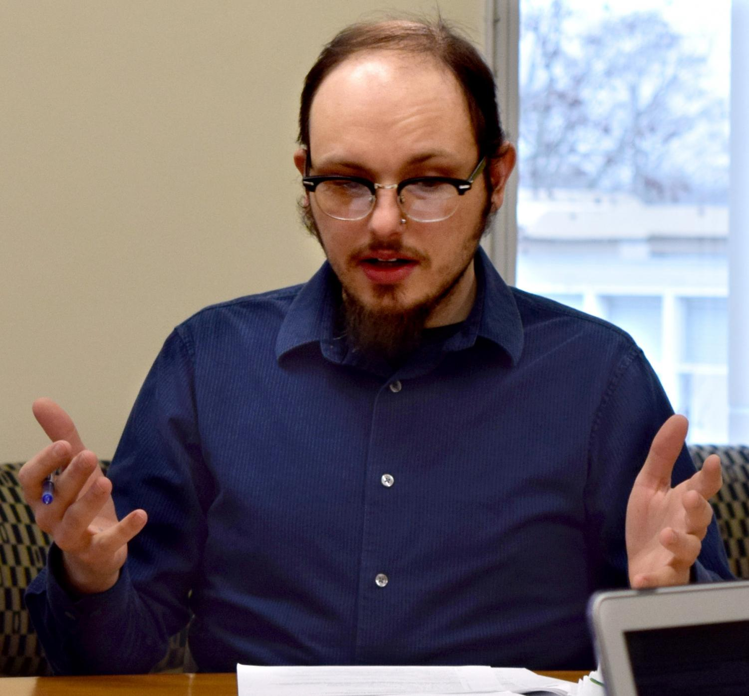 "Scott Walus, a communication studies professor, presented four course revisions as well as a new minor to the Council on Academic Affairs Thursday afternoon in Booth Library. Walus said the first radio course at Eastern started in 1957 and was called ""Radio Speaking to Prevent Mic Fright."""