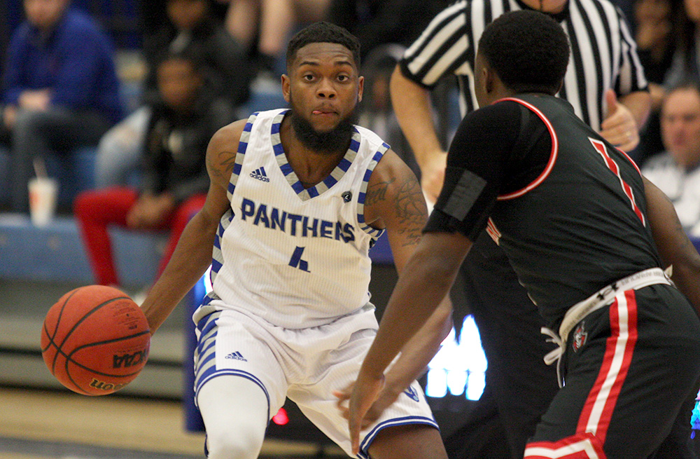 Senior Montell Goodwin sets up the Panthers' offense it their 76-69 loss to Austin Peay Feb. 10 in Lantz Arena. With Eastern's win Saturday over Tennessee-Martin, the Panthers secured a spot in the OVC Tournament.