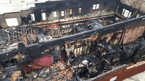 A picture of the damage done to Mother's bar because of the fire.