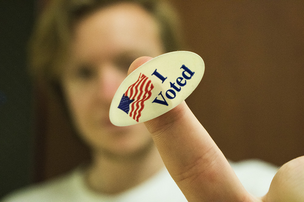 Those who were registered to vote Tuesday night received an