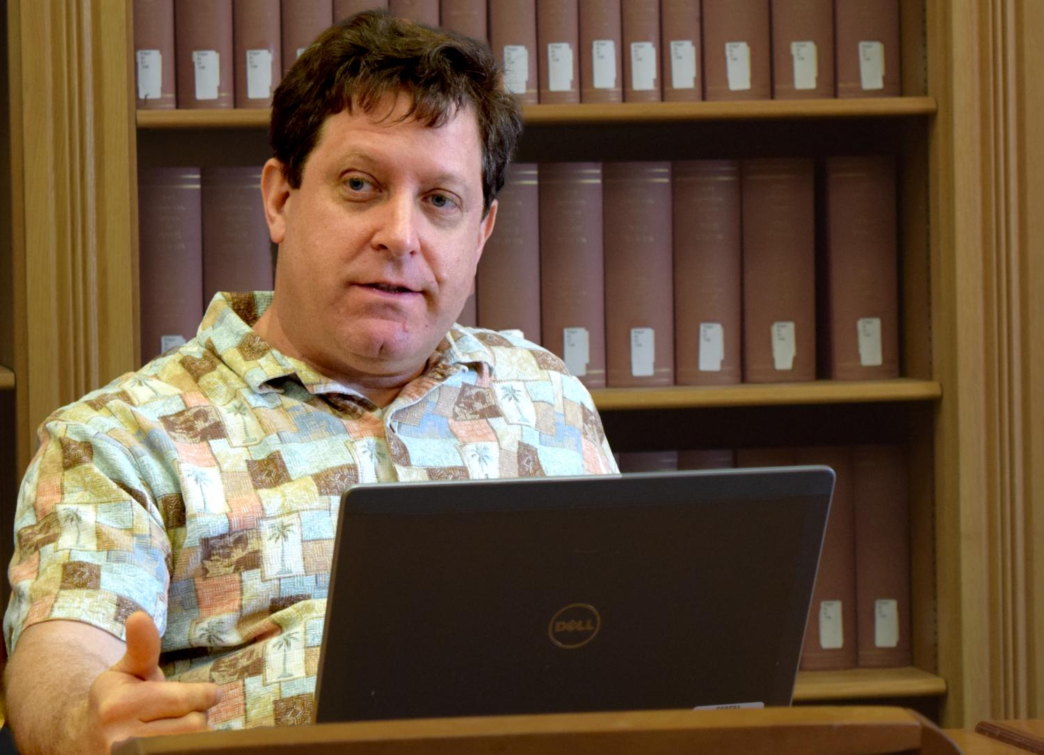 Geography professor Barry Kronenfeld is a member of the Council for Academic Affairs. The council approved lowering two course numbers for the computer and information technology department, and it also looked at an accelerated law degree program.