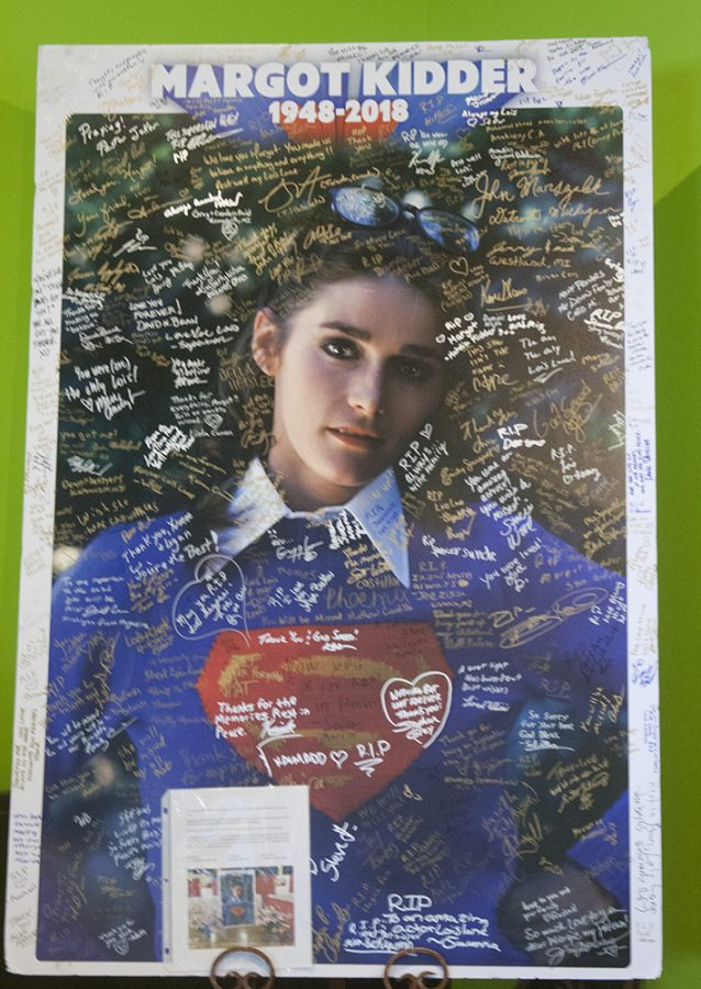 Fans signed a picture with statements of sentiment and sorrow for the loss of Margot Kidder, who played the character Supergirl. The picture was on display at the Superman Celebration in Metropolis, Illinois this weekend.